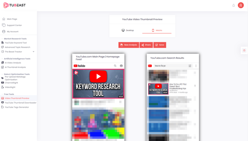 tubeast video thumbnail preview / viewer tool